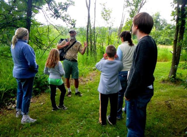 wetland walk naturalist program at minneopa state park