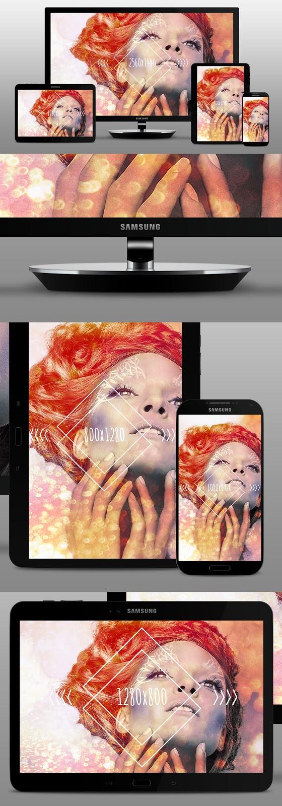 Free Samsung Device Mockup PSD