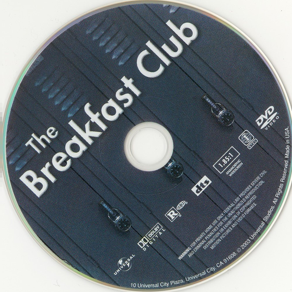 Label DVD The Breakfast Club