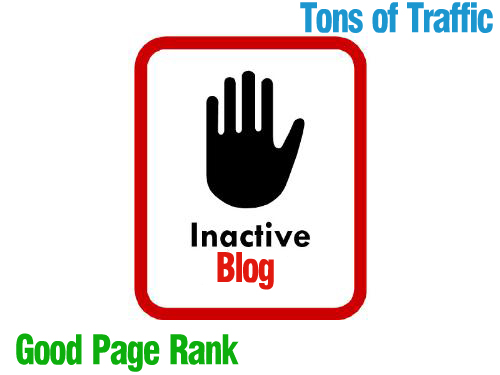 Inactive blogs with traffic and good page rank