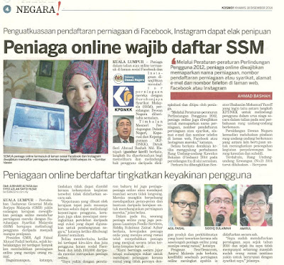 Peniaga Online Wajib Daftar SSM