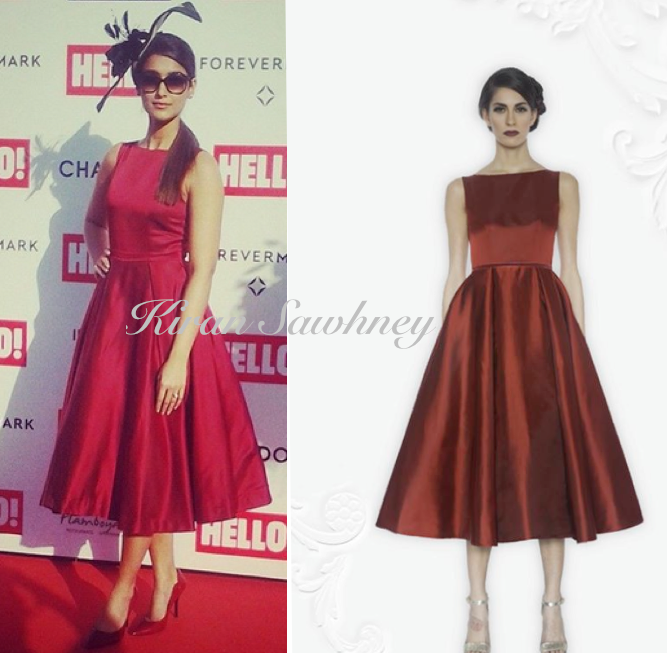 Ileana D'Cruz is wearing a dress by Hema Kaul to the Hello Classic Cup