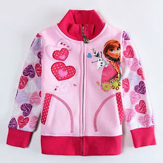 Jaket Cantik Frozen Untuk Anak Perempuan
