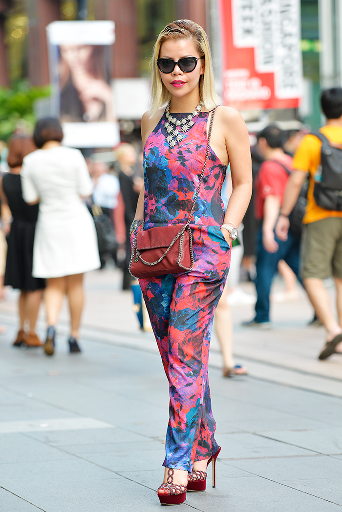Crystal Phuong in Finder Keepers Jumpsuit on Day 4, Singapore Fashion Week