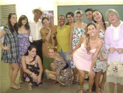 Alunos da CAP Escola de TV e Cinema, do curso de atores para tv....