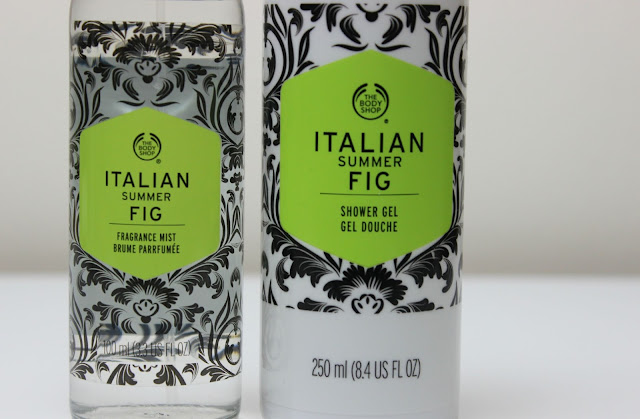 A picture of The Body Shop Italian Summer Fig Fragrance Mist and Italian Summer Fig Shower Gel