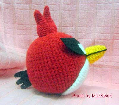 super red bird amigurumi