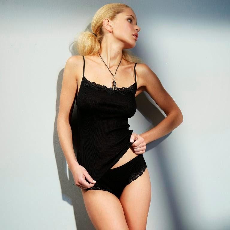 Wolle-Seide Top Boracay schwarz von Gattina