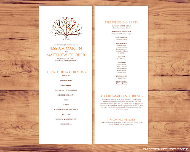Autumn Wedding Programs6