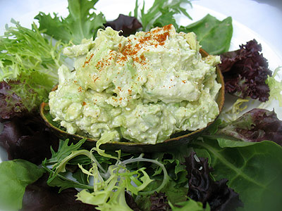 Indian-style avocado salad