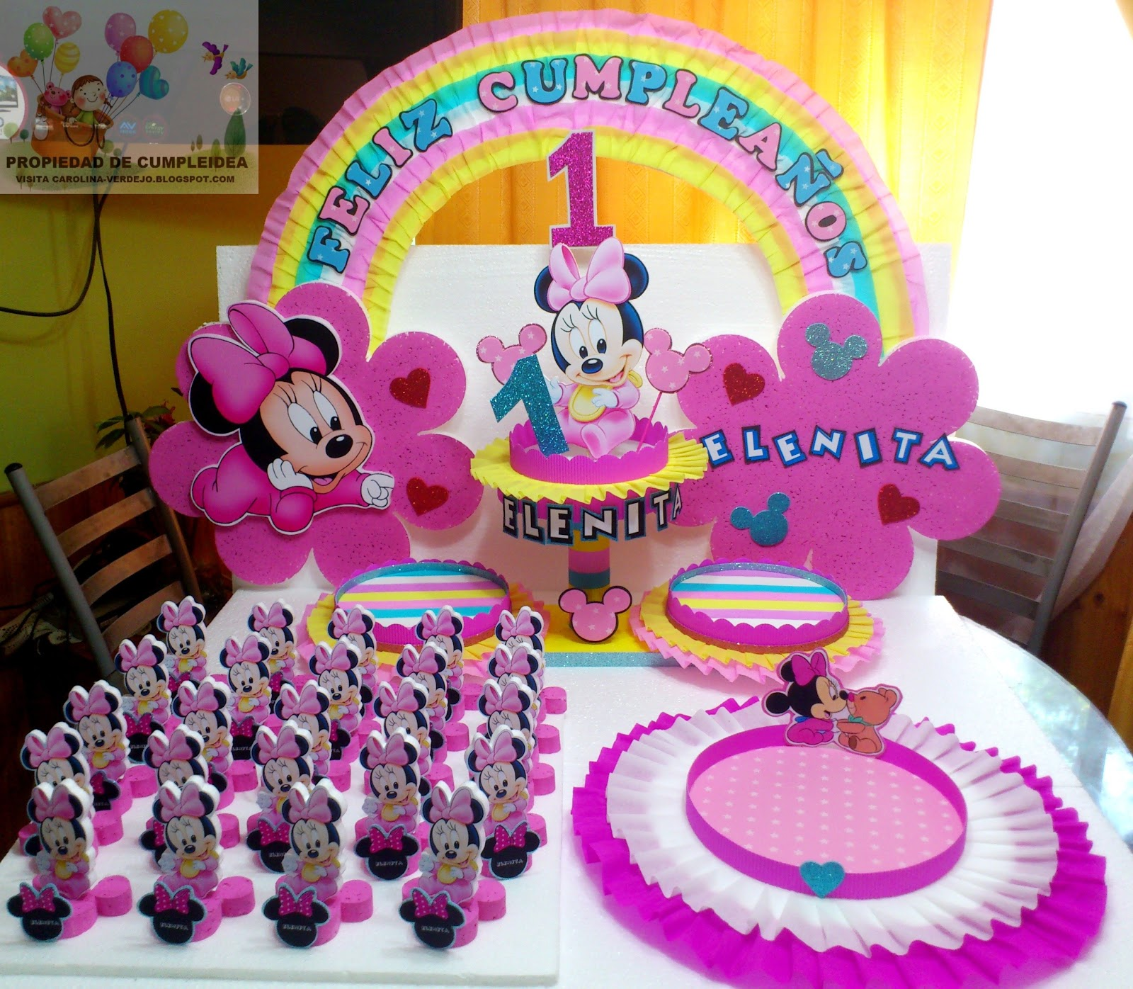 DECORACIONES INFANTILES: PACK MINNIE BEBE
