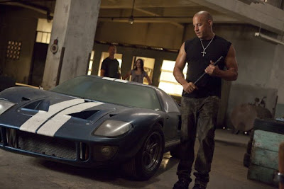 Vin Diesel and Ford GT40 in Fast Five movie