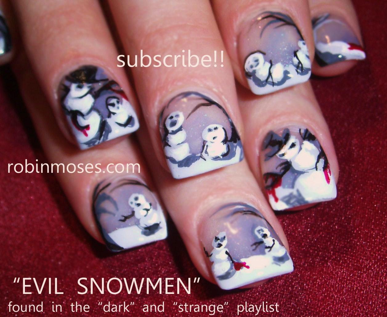 cute easy christmas nail designs