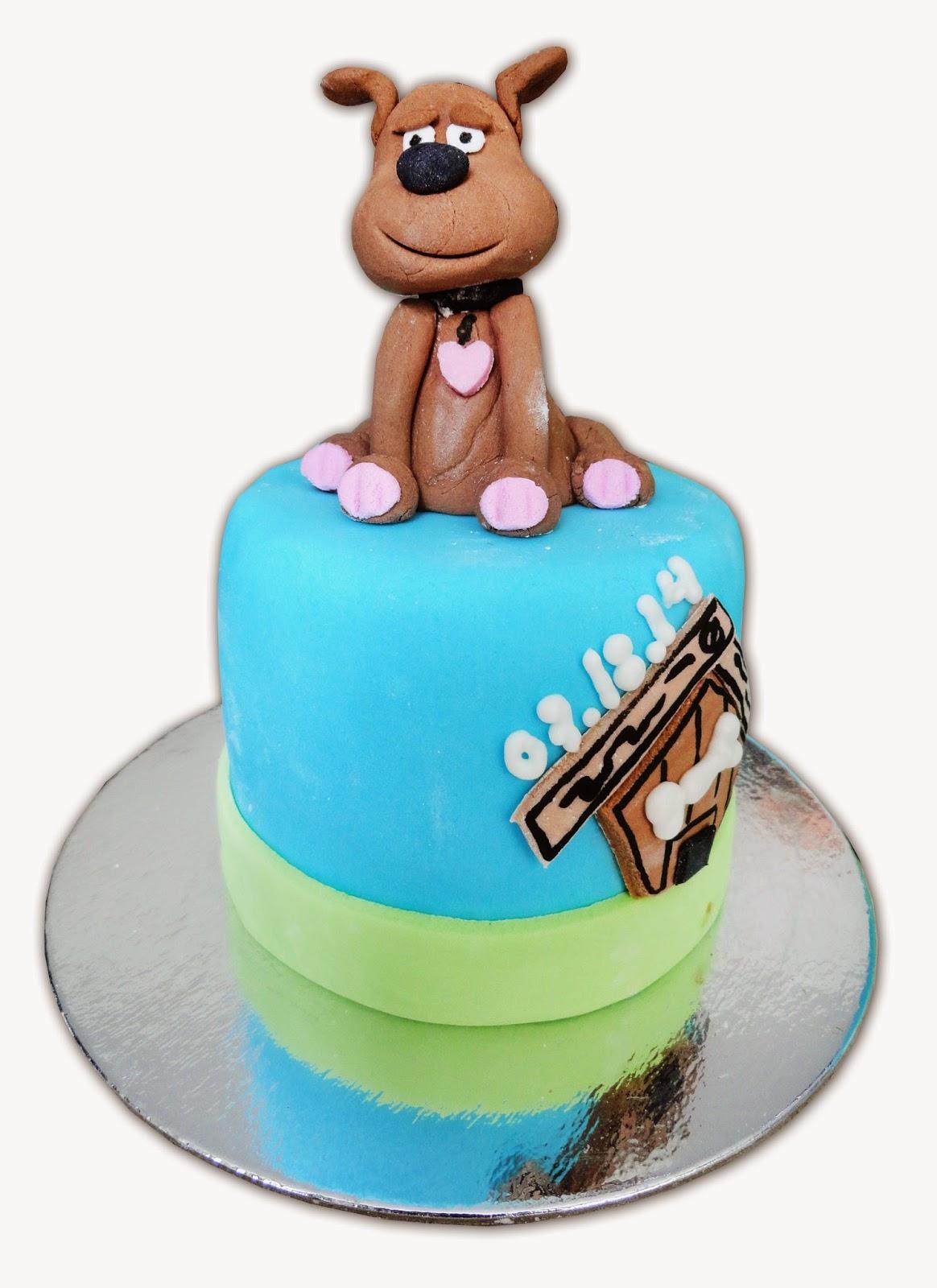 Popcakes Dog Design Cake