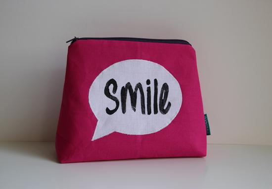 binedoro Blog, Täschchen mit Sprechblase, smile