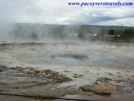 Geiseres Strokkur y Geysir en el circulo dorado de Islandia