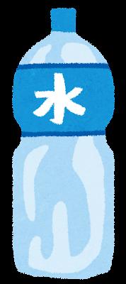 水・ミネラルウォーターのペットボトルのイラスト