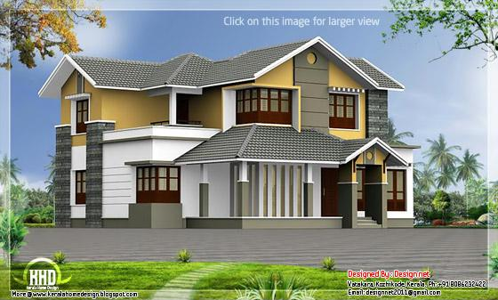 Kerala style courtyard house