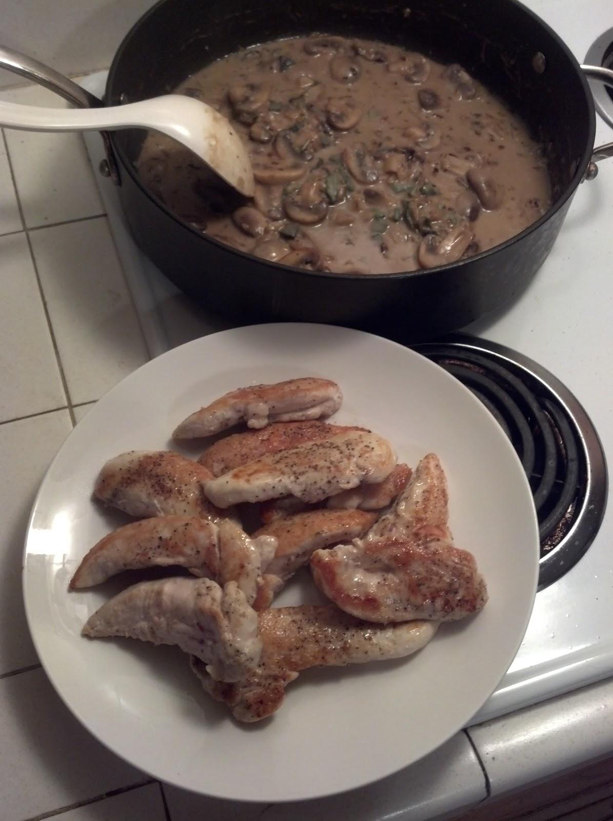 Chicken Breasts With Mushroom Sage Sauce Recipe — Dishmaps