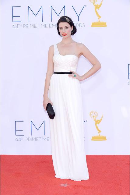 Jessica Pare vestido Lanvin Emmy 2012