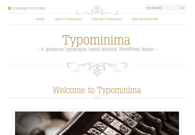 Typominima Typography Based Wordpress Theme