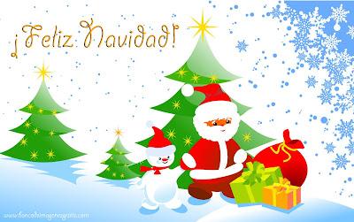 Fondos y wallpapers de navidad con Santa Claus y regalos