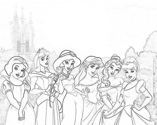 Las Princesas para Colorear: Dibujos para colorear de princesas