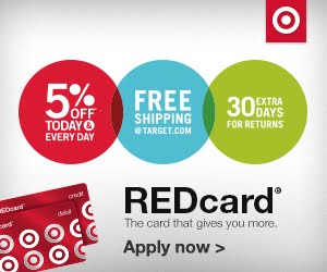 Save 5% with Target Red Card!