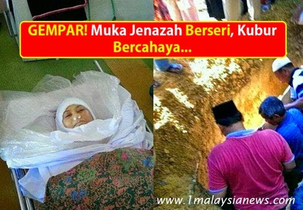 Muka Jenazah Wanita Ini Bersinar Ketika Mau Dikuburkan, Subhanallah!