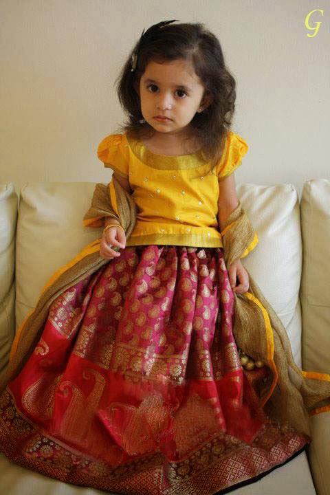 Cute Baby Girl in Yellow Dress Yellow Dress Indian Girl