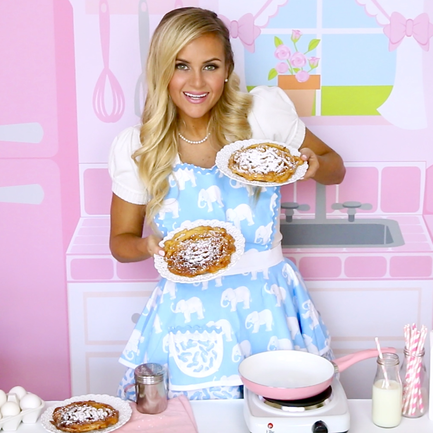 how to make funnel cake with pancake mix yahoo