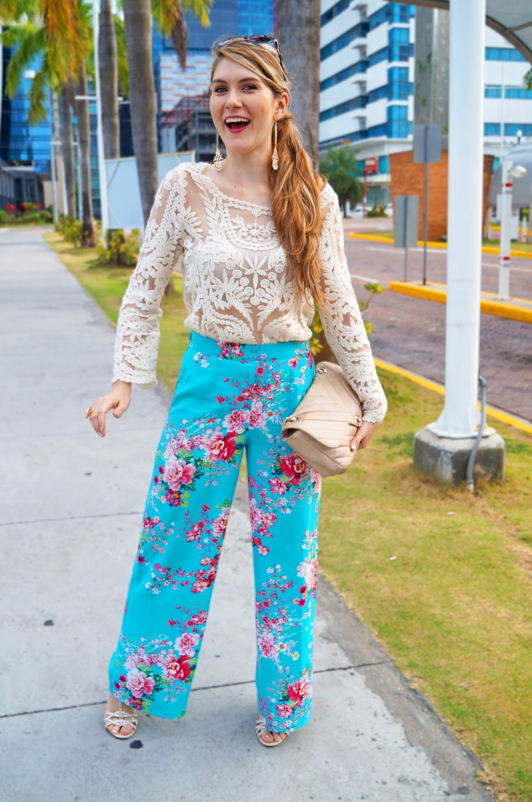 Floral Palazzo Pants from Forever21