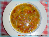 Frittata con peperone, zucchine, pomodoro e scalogno