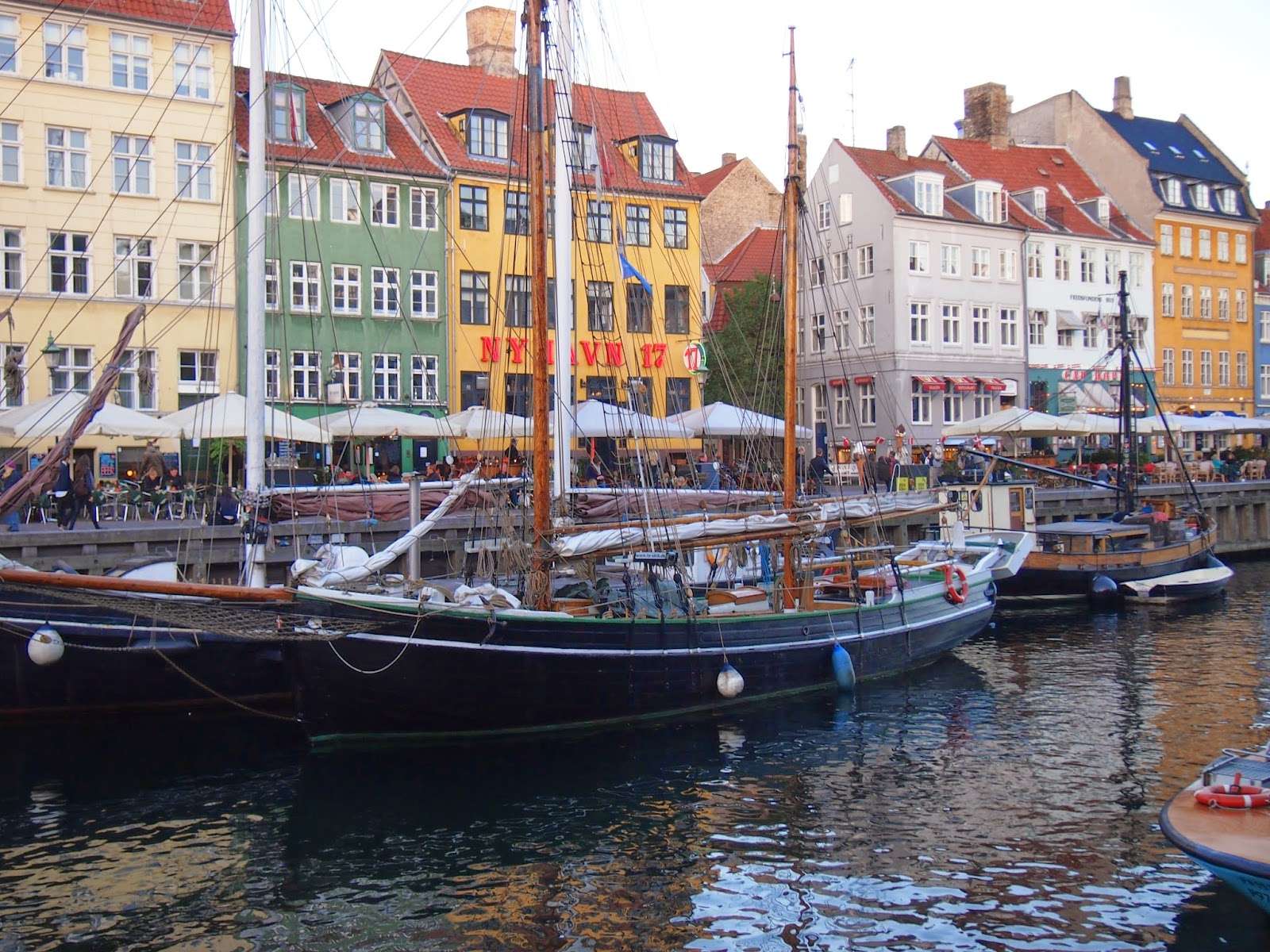 boats in the canals in Nyhavn, Copenhagen