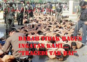 Darah Tidak Hagus Ingatan Kami.. 'Tregedi Tak Bai'