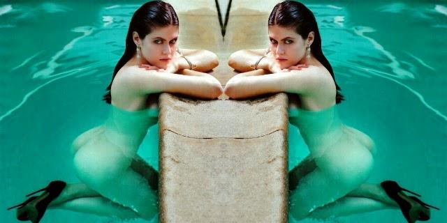Alexandra Dadario mostrando curvas en Variety