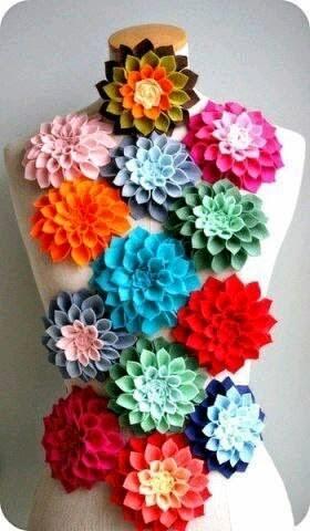 Keçeden Yıldız Çiçeği Yapımı