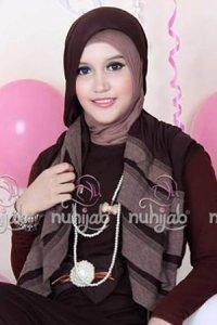 Nuhijab Rample Shawl (RS) - Brown (Toko Jilbab dan Busana Muslimah Terbaru)