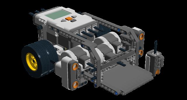 Three motor sumo robot jay kinzie 39 s virtual corner for Robotic motors or special motors