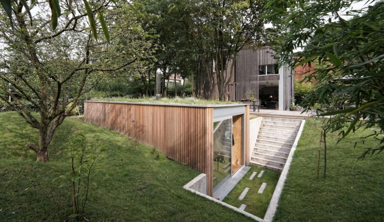 Shedworking underground garden office atelier pam jenny for Garden house office