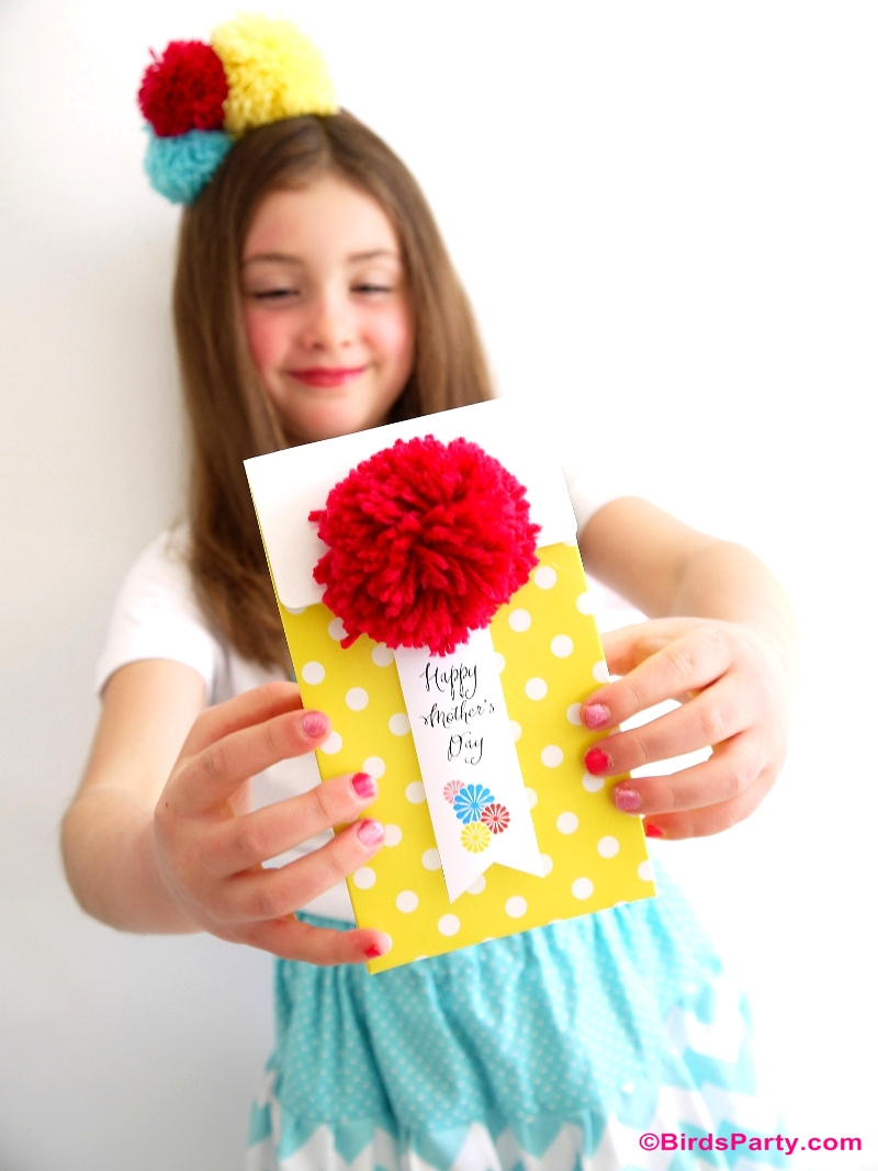 Mother's Day Color Pop Party Favors and DIY Gifts