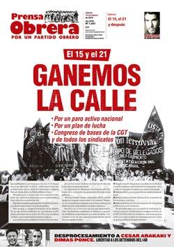 - - - - - - - Prensa Obrera Nº 1491 - - - - - - -