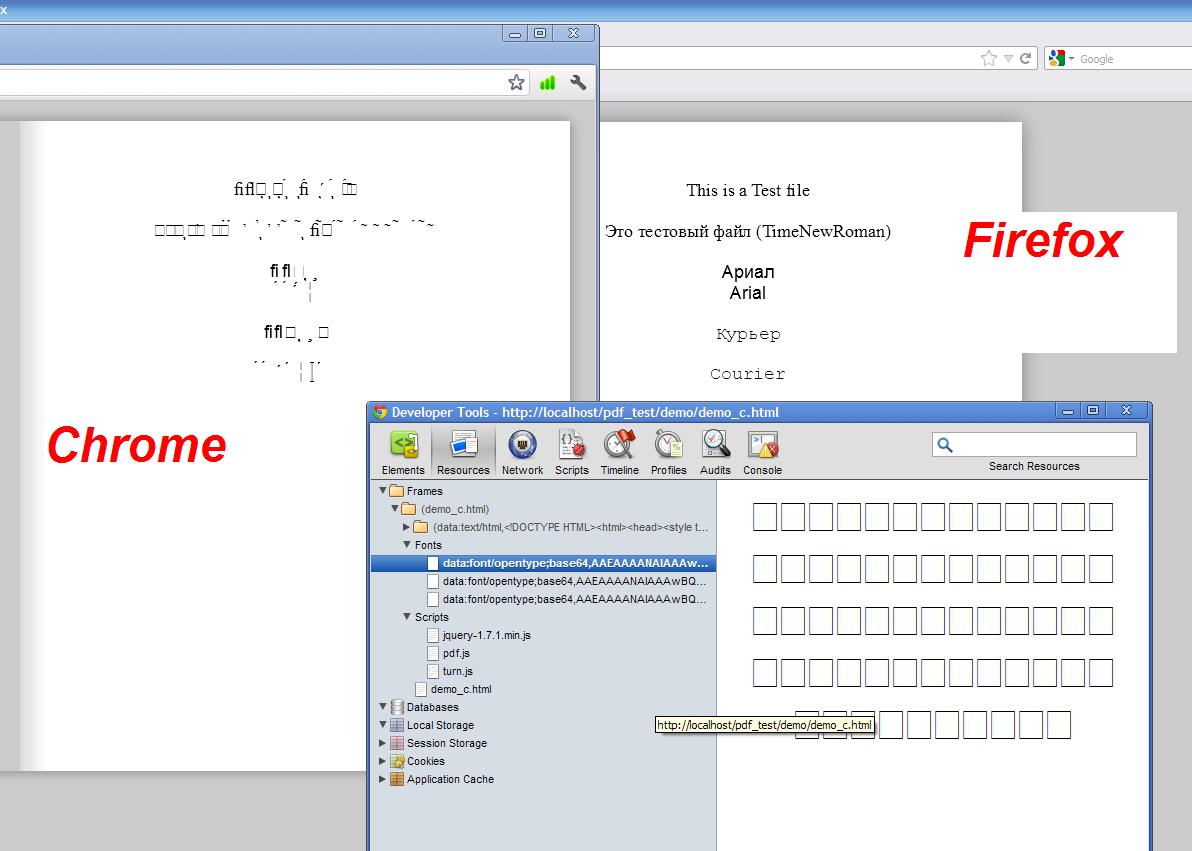 Tampilan icon browser chrome dan firefox yang rusak