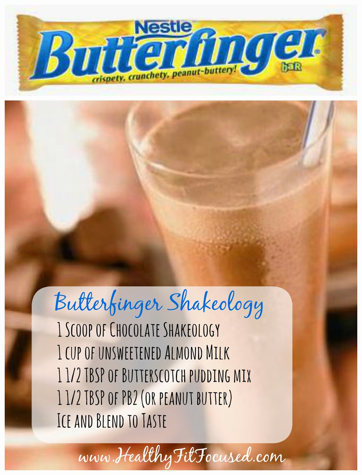 Healthy Halloween Candy Bar Shakeology Recipes: Butterfinger Shakeology