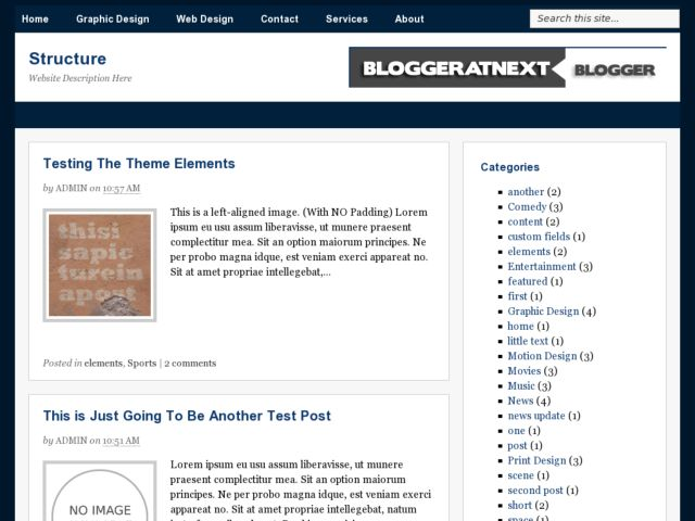 Structure Blogger Template
