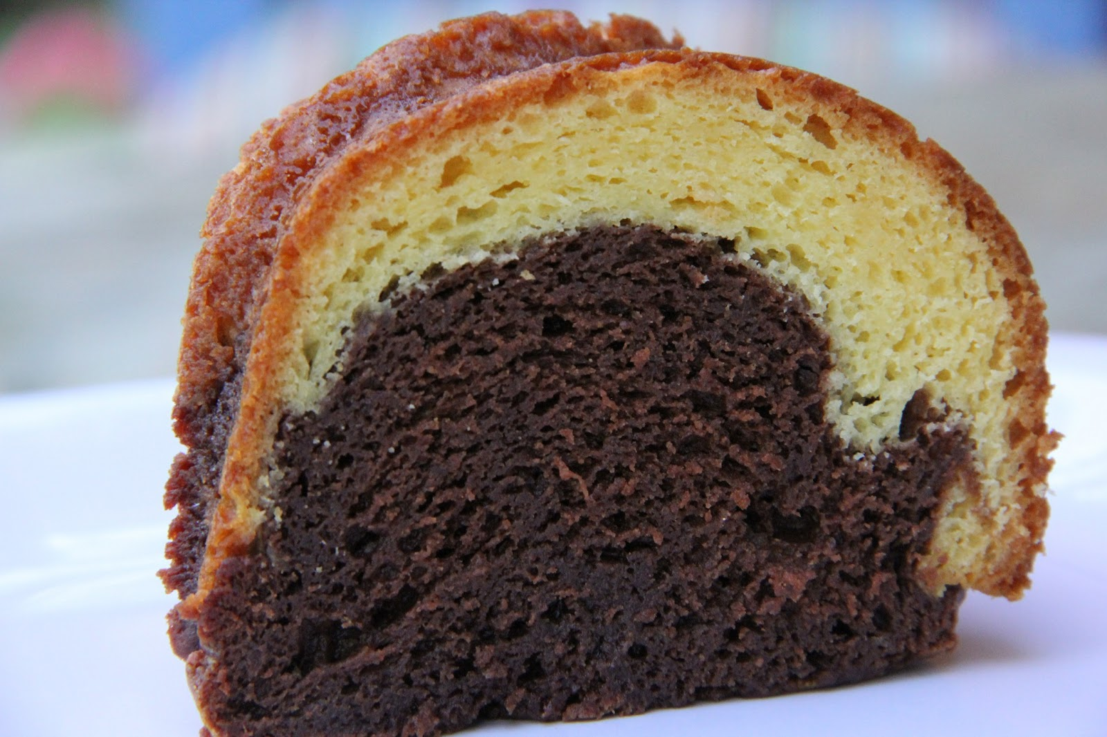 Box Marble Cake With Chocolate Pudding