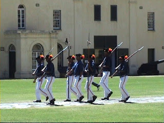 Guards marching Key Ceremony Castle Good Hope Cape Town South Africa
