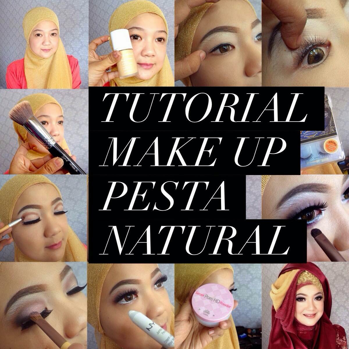 Ajaib: pesta natural Natural Make makeup Tutorial Ini Yang  Vindy ke Untuk Pesta Up Ke