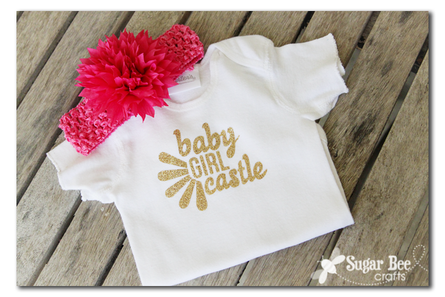 Baby gift no name no problem sugar bee crafts i still made a personalized shirt just called her baby girl and stuck on their last name still fun negle Images