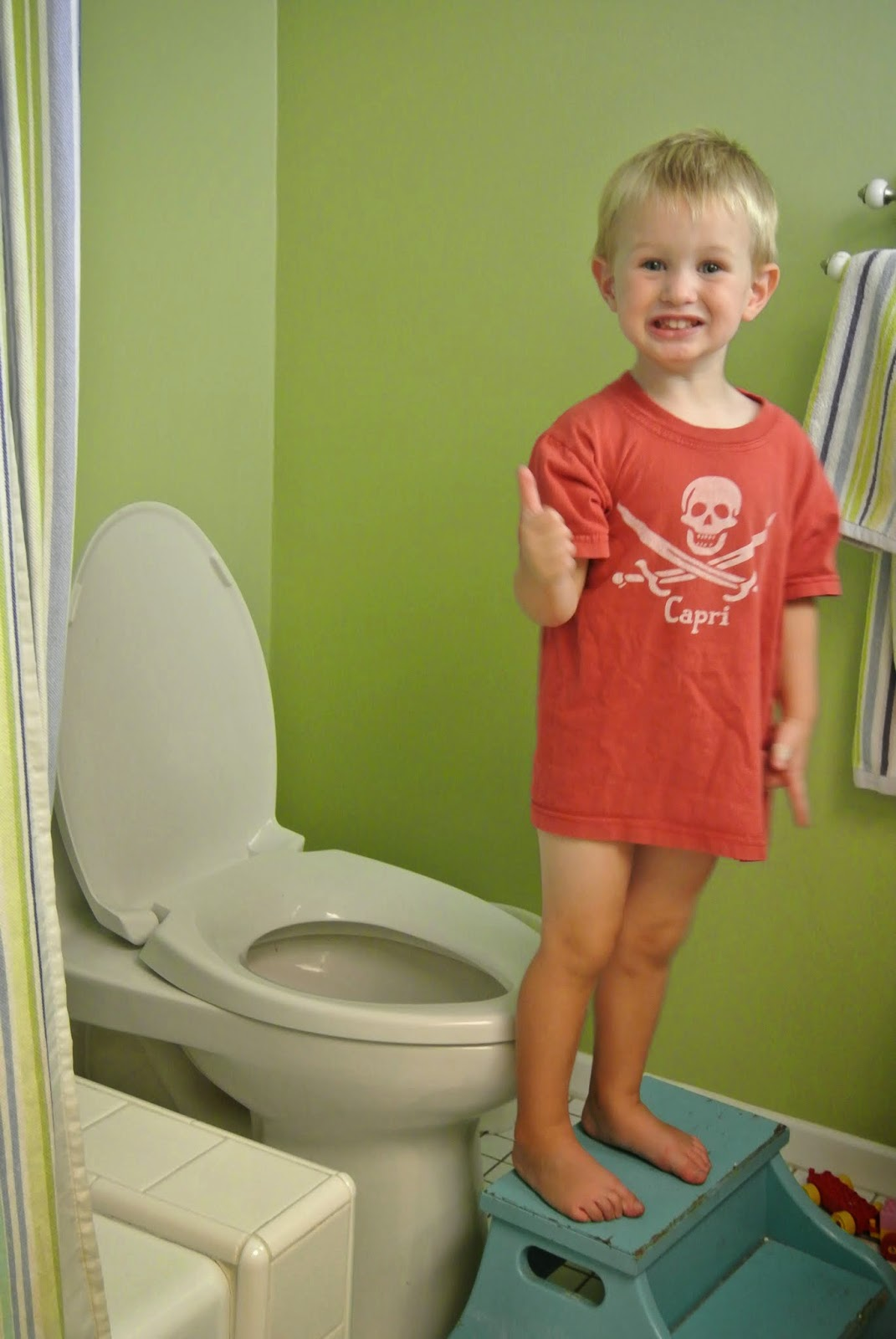 Ha peeing potty toilet